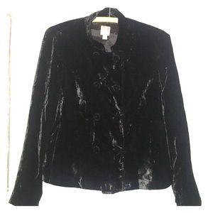 {J Jill} black velvet blazer.